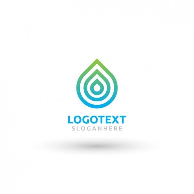 Капля логотип Бесплатные векторы
