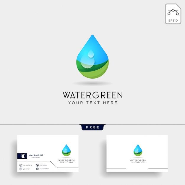 Drop water or green water logo template vector illustration Premium Vector