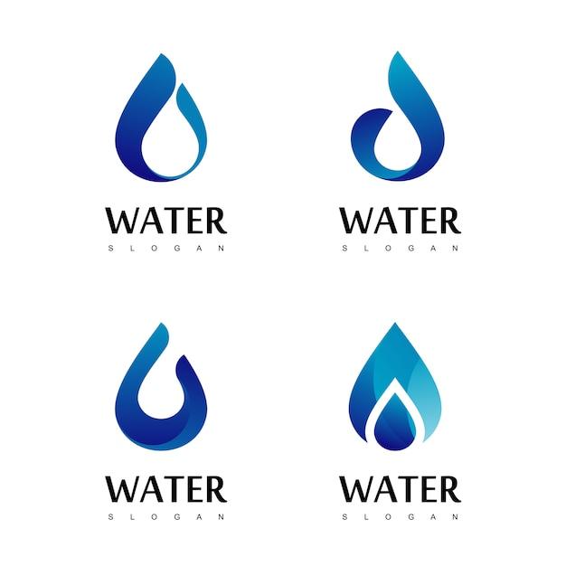 Drop water logo design vector Premium Vector