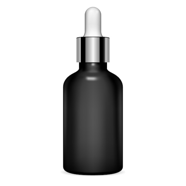 Dropper bottle. serum cosmetic. clear vial Premium Vector