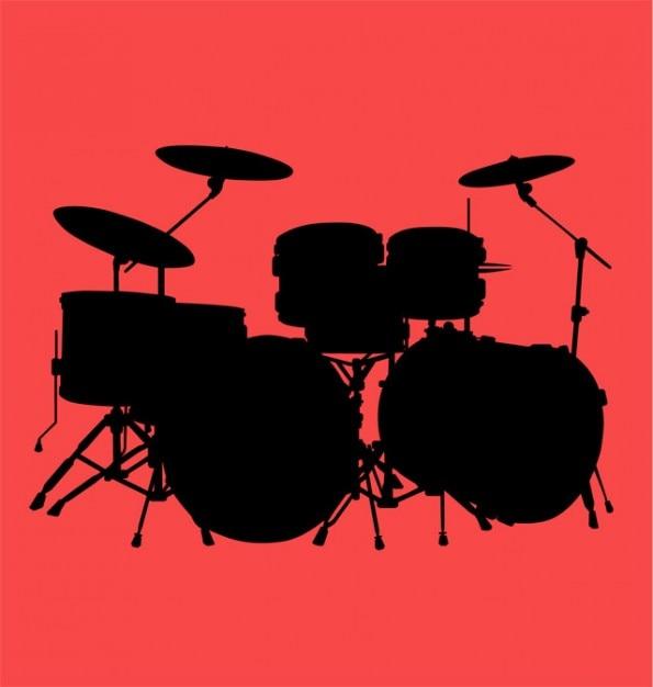 Drum Kit Vector. Free Vector