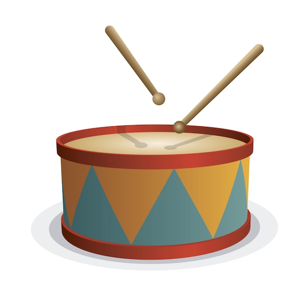 Drum toy background Free Vector