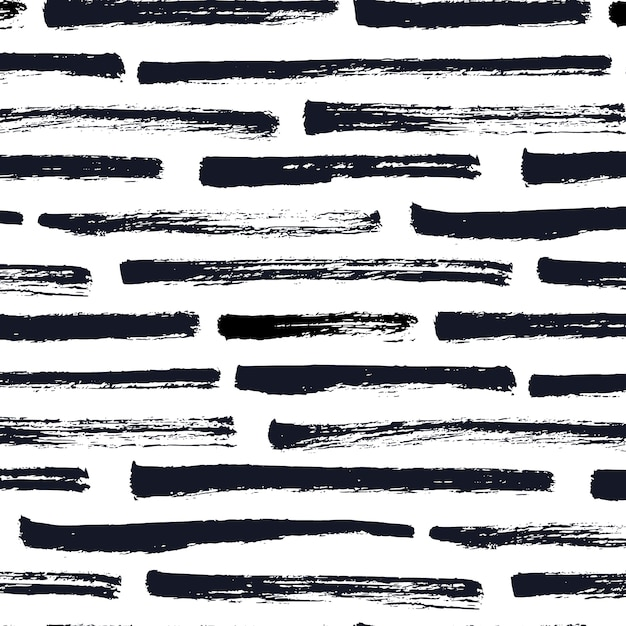 Dry brush stripes pattern Free Vector