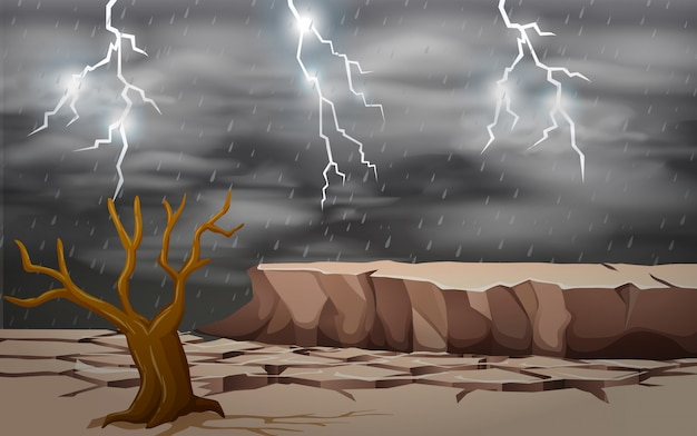 A dry land background Premium Vector