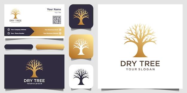 Шаблон логотипа сухое дерево. особенности логотипа tree tree. этот логотип декоративный, современный, чистый и простой. визитная карточка Premium векторы