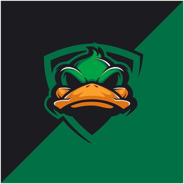 Duck head logo for sport or esport team. Premium Vector