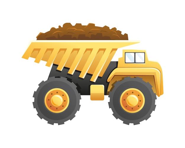 ダンプトラック建設および採掘車両 Premiumベクター