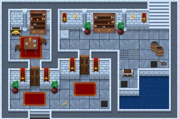 Dungeon game tileset Premium Vector