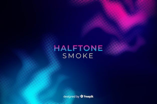 Duotone halftone smoke flat background Free Vector
