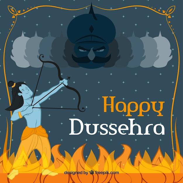Dussehra background Vector   Free Download