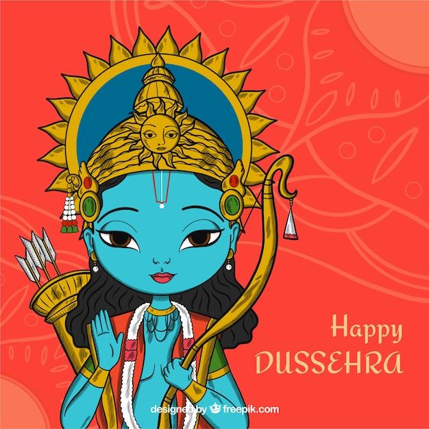 Dussehra background Free Vector