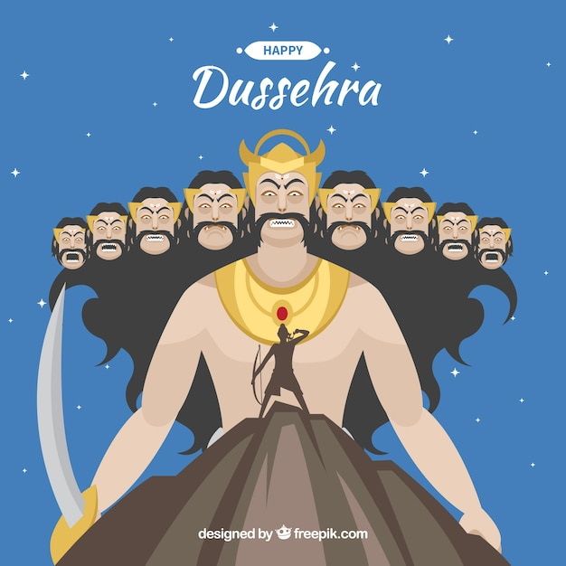 Dussehra background Free Vector