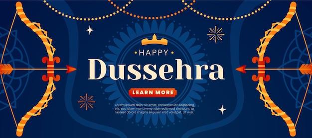 Dussehra banner concept Free Vector