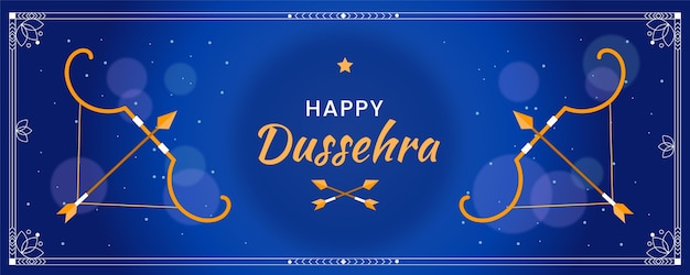 Dussehra banner template Premium Vector