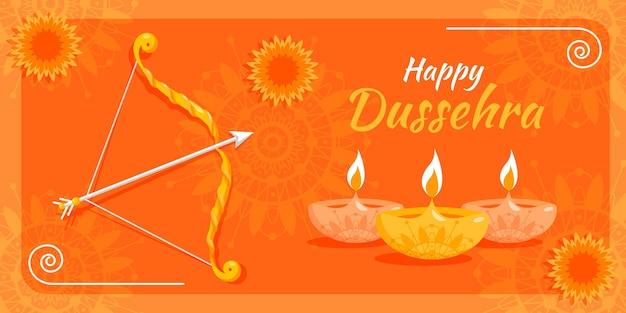 Dussehra banner template Free Vector