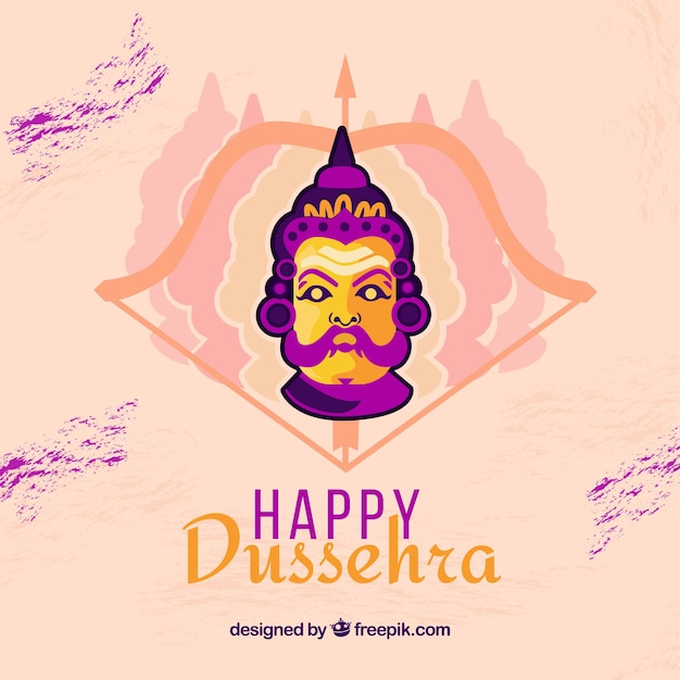 Dussehra composition with flat design Free Vector
