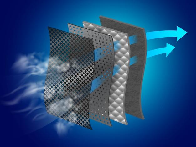Dust filter layer. Premium Vector
