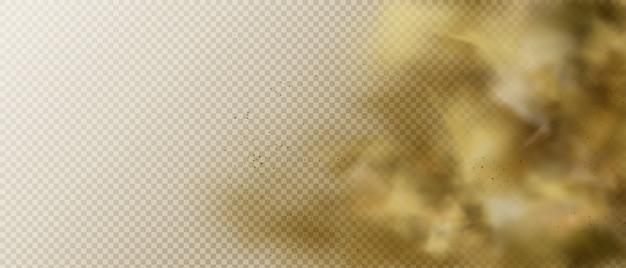 Облако пыли или дыма, коричневый пар тяжелого смога Бесплатные векторы