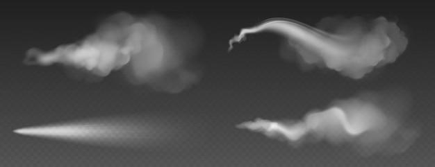 Пылевая пыль, белый дым, порошок или капли воды Бесплатные векторы