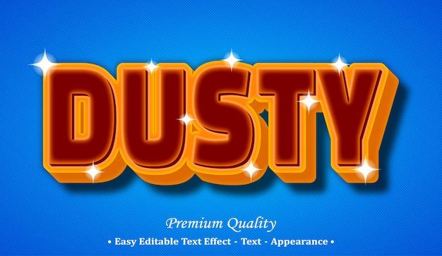 Dusty 3d editable text style effect Premium Vector