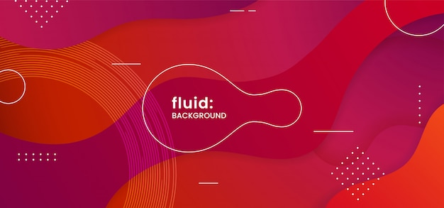 Dynamic abstract background Premium Vector