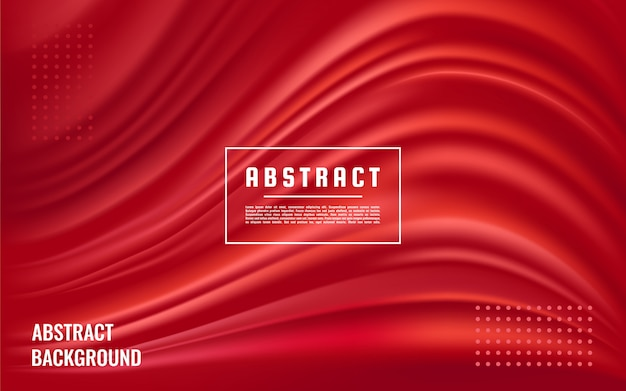 Dynamic abstract red texture background, red liquid wave background Premium Vector