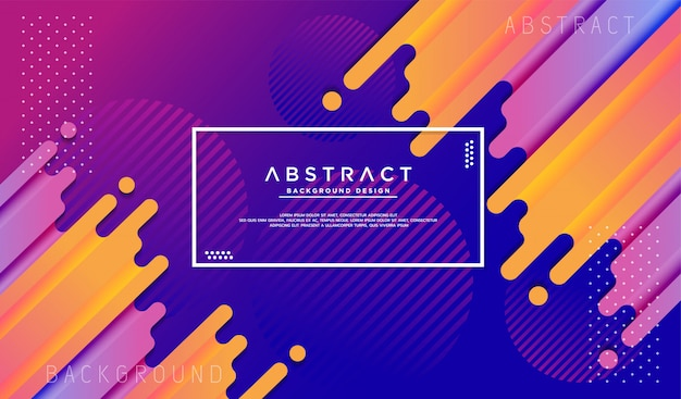 Dynamic background with fluid liquid shape Premium Vector