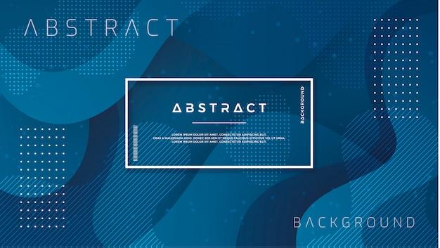 Dynamic blue background memphis style Premium Vector