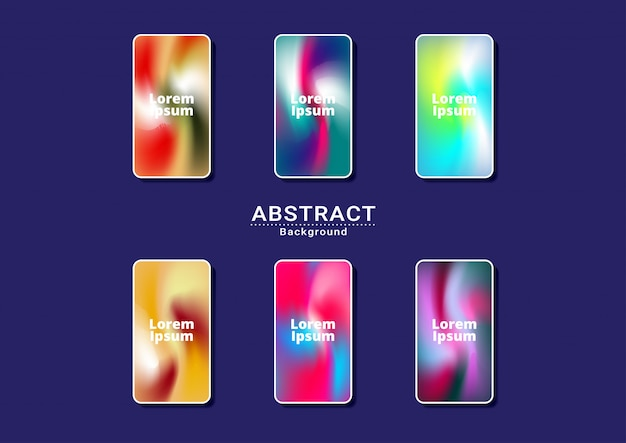 Dynamic bright multicolor background Premium Vector