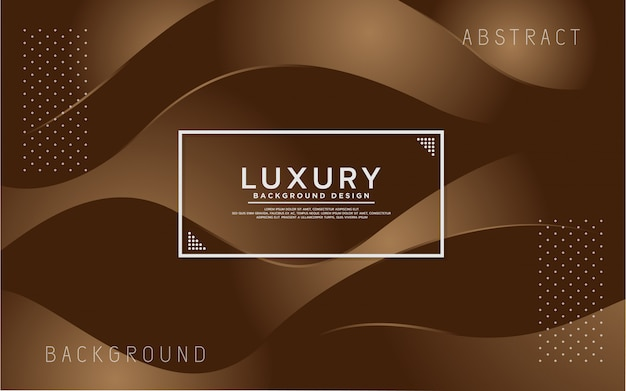 Dynamic brown colorful abstract modern background Premium Vector