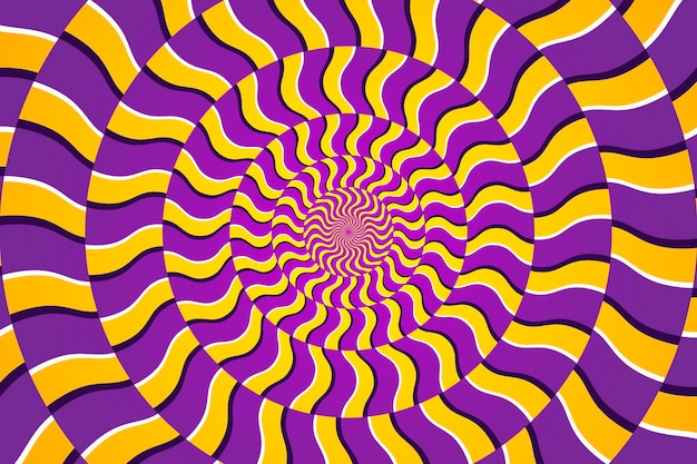Dynamic circular pattern psychedelic background Free Vector