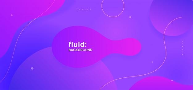 Dynamic geometric shape liquid abstract background Premium Vector