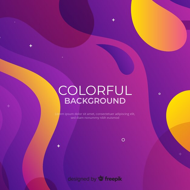 Dynamic gradient shapes background Free Vector