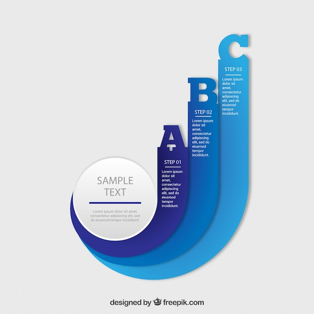 dynamic infographic template vector free download