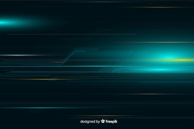 Dynamic light movement background Free Vector