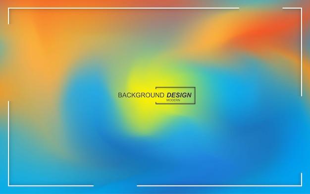 동적 액체 색상 배경 프리미엄 벡터