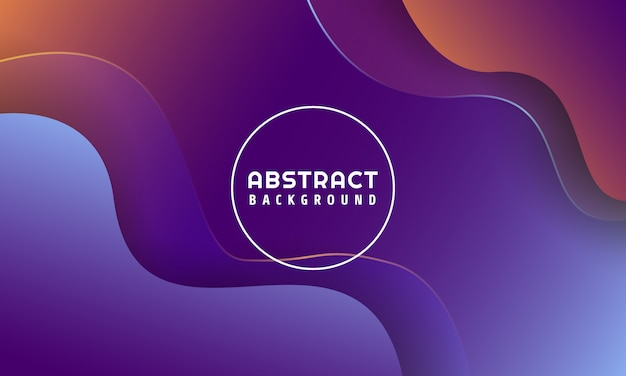 Dynamic liquid shapes abstract background Premium Vector