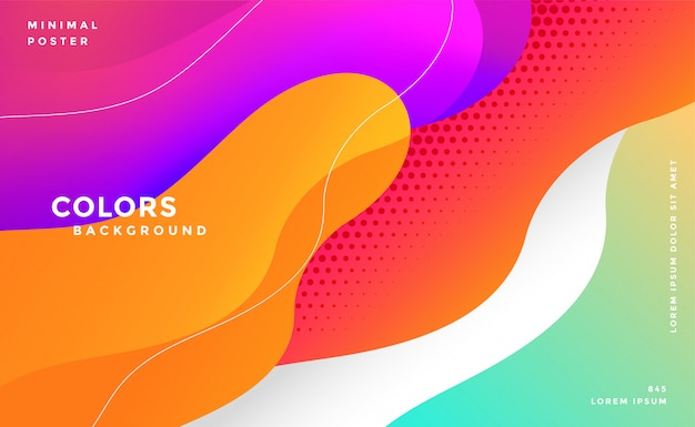Dynamic modern colorful fluid style background Free Vector