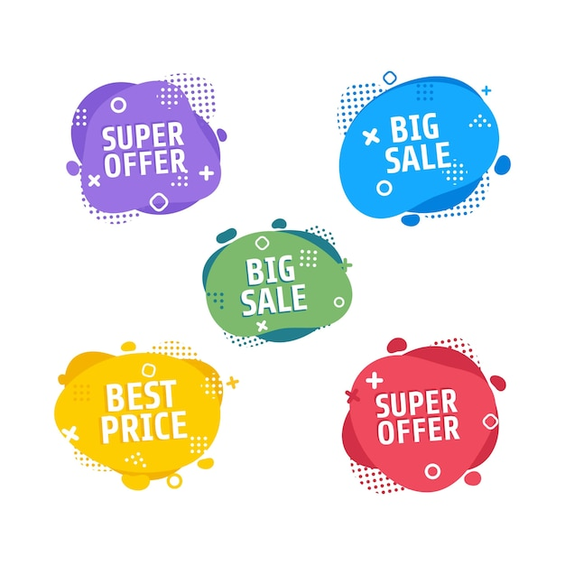 Dynamic modern fluid mobile for sale banners. Premium Vector