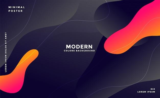 Dynamic modern fluid style background Free Vector