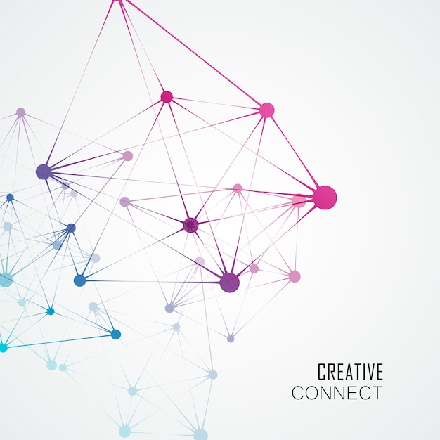 Dynamic molecule structure, abstract technology background Premium Vector