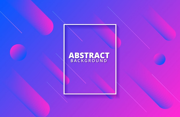 Dynamic shape background with trendy gradient color Premium Vector