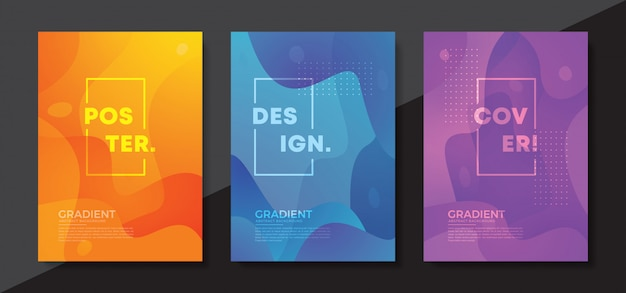 Dynamic textured background design in 3d style. Premium Vector