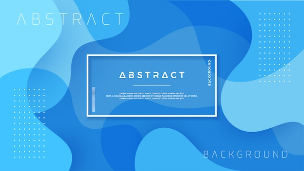 Dynamic textured blue background. Premium Vector