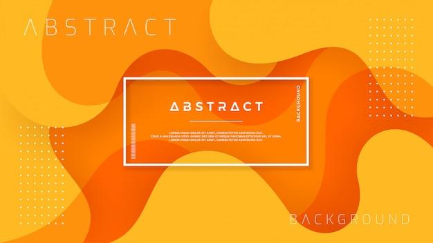 Dynamic textured orange background. Premium Vector