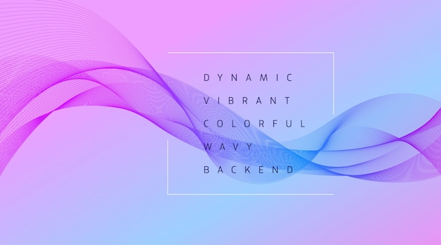 Dynamic vibrant colorful wave background Premium Vector
