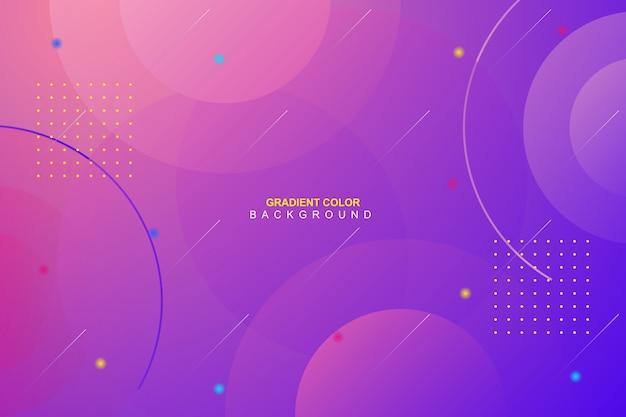 Dynamic vibrant minimal gradient background Premium Vector