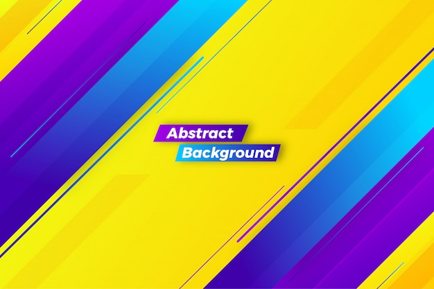 Dynamic yellow abstract creative background design Premium Vector