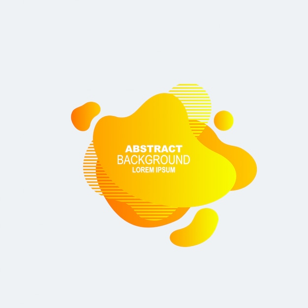Dynamical colored graphic elements. gradient abstract banners with flowing liquid shapes. Premium Vector