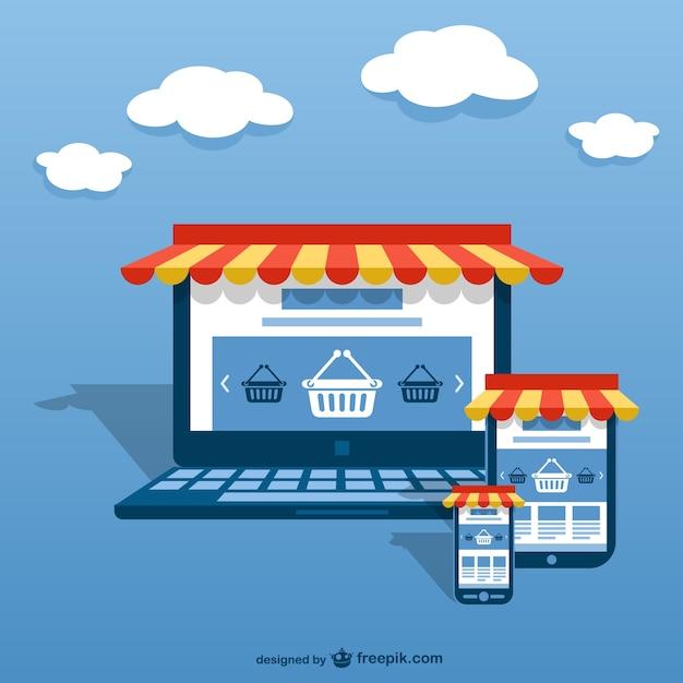 E-business concept Free Vector